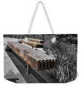 High Line Benches Black And White Weekender Tote Bag