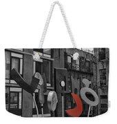 High Line Joy Black And White Weekender Tote Bag