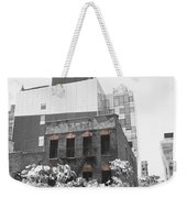High Line View Of Architecture Black And White Weekender Tote Bag