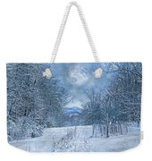 High Peak Mountain Snow Weekender Tote Bag