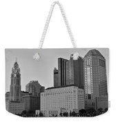 Columbus Close Up Black And White Weekender Tote Bag