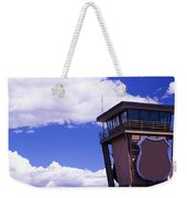 High Section View Of Railroad Tower Weekender Tote Bag