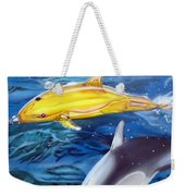 High Tech Dolphins Weekender Tote Bag by Thomas J Herring