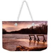 High Water On The Wolf River Weekender Tote Bag