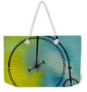 High Wheel Bicycle Weekender Tote Bag
