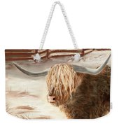 Highland Bull Weekender Tote Bag