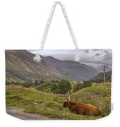 Highland Cow In Scotland Weekender Tote Bag