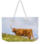 Highland Cow Watercolour Weekender Tote Bag