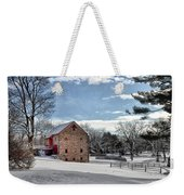 Highland Farms In The Snow Weekender Tote Bag