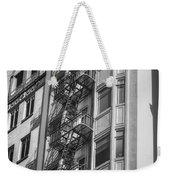 Highrise Fire Escape Bw Weekender Tote Bag