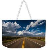 Highway Life - Blue Sky Down The Road In Oklahoma Weekender Tote Bag