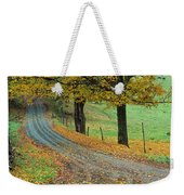 Highway Passing Through A Landscape Weekender Tote Bag