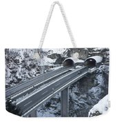 Higway Tunnel With A Bridge Weekender Tote Bag