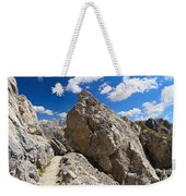 hike in Dolomites Weekender Tote Bag