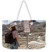 Hiker And Directions Weekender Tote Bag
