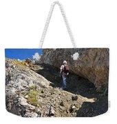 hiker in Dolomites Weekender Tote Bag