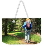 Hiker In The Forest Weekender Tote Bag