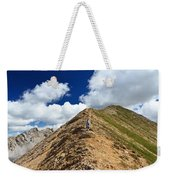 Hiker On Mountain Ridge Weekender Tote Bag
