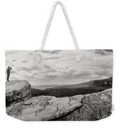 Hikers Standing On The Rocks, Gertrudes Weekender Tote Bag