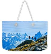 Hiking Above Chamonix On The Lac Blanc Trail Weekender Tote Bag
