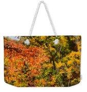 Hiking In Autumn Weekender Tote Bag