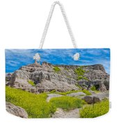 Hiking In The Badlands Weekender Tote Bag