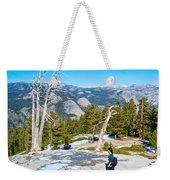 Hiking On Barren Rock On Sentinel Dome In Yosemite Np-ca Weekender Tote Bag