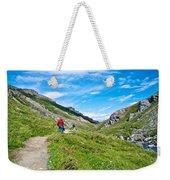 Hiking On Savage River Trail In Denali Np-ak    Weekender Tote Bag
