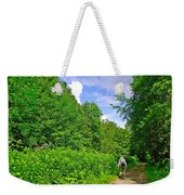 Hiking Trail Along Rivier Du Nord In The Laurentians North Of Montreal-qc Weekender Tote Bag