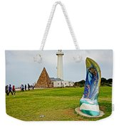 Hill Lighthouse Built In 1861 And Donkin Memorial Pyramid Honoring The Wife Of Sir Rufus Donkin-sout Weekender Tote Bag