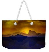 Hills In The Distance At Sunset Weekender Tote Bag