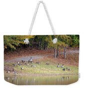 Hillside Of Canadian Geese Weekender Tote Bag