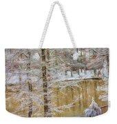 Hillside Snow - Winter Landscape Weekender Tote Bag