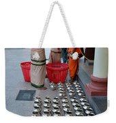 Hindu Priests Prepare Offering To Gods Weekender Tote Bag