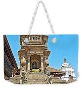Hindu Temples In Bhaktapur Durbar Square In Bhaktapur-nepal Weekender Tote Bag