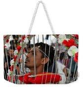 Hindu Thaipusam Festival Pierced Devotee In Singapore Weekender Tote Bag