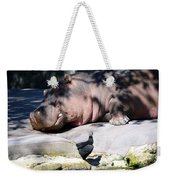 Hippo And Friend Weekender Tote Bag
