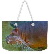 Hippo Taking A Plunge Weekender Tote Bag