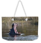 Hippo Yawning Weekender Tote Bag