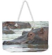 Hippopotamus In Kenya Weekender Tote Bag
