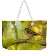 His Eye Is On The Sparrow Weekender Tote Bag