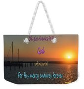 His Mercy Endures Forever Weekender Tote Bag