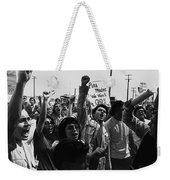 Hispanic Anti-viet Nam War Rally Tucson Arizona 1971 Black And White Weekender Tote Bag