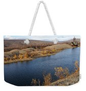 Historic Alaska Gold Dredge In Fall Weekender Tote Bag