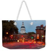 Historic Annapolis And Evening Traffic II Weekender Tote Bag