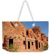 Historic Civilian Conservation Corps Stone Cabins In The Valley Of Fire Weekender Tote Bag