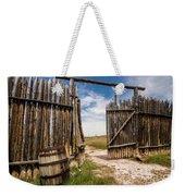 Historic Fort Bridger Gate - Wyoming Weekender Tote Bag