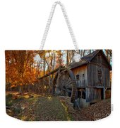 Historic Grist Mill With Fall Foliage Weekender Tote Bag