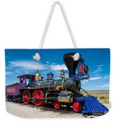 Historic Jupiter Steam Locomotive - Promontory Point Weekender Tote Bag by Gary Whitton