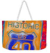 Historic Route 40 Pop Art Weekender Tote Bag